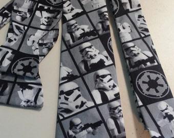 Star Wars Stormtrooper Neckties in bow tie, skinny tie, kids or adult sizes