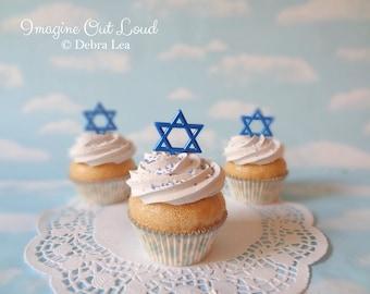 Fake Cupcake Hanukkah Star of David