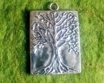 Silver colour Tree of life pendant