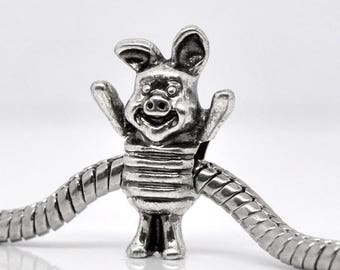 1 Pearl pig piglet 20 * 13 mm charms pandor p/bracelet