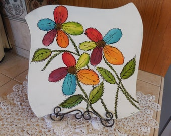 Rainbow Flower Plate