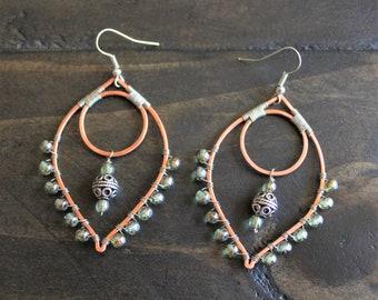 Large Dangle Leaf Earrings