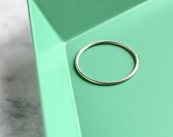 Skinny Stacking Ring - Sterling Silver | simple silver ring | midi ring | knuckle ring | thin ring | small silver ring | mother's day