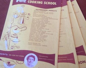 Vintage recipe book-pamphlet set