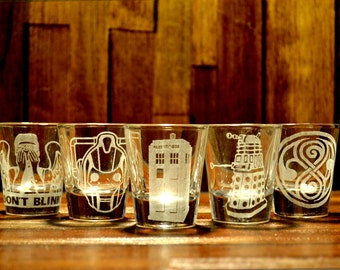 Doctor Who Shot Glass Set of 5