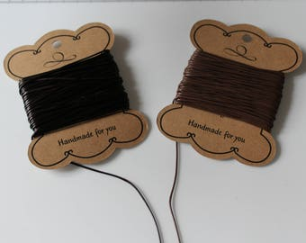 1 m wire Brown faux leather to choose 1 mm