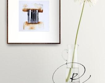 Original abstract art, abstract art, abstract ink drawing, ink drawing, minimal art, linear art, minimalist painting, abstract painting, ink