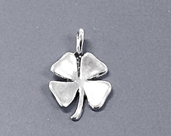 Four Laef Clover Charms, Silver Four Leaf Clover Charm, Lucky Clover, Good Luck Sterling Silver Charms - SP683