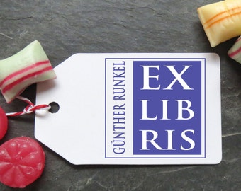 Stamp Ex Libris individually with your name