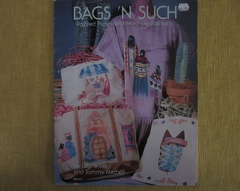Bags 'N Such Painted Purses & Matching Fashions,fabric paintingbooklet, Indian designs,giraffe,parrots,butterflies,flowers,hummingbird,cows,