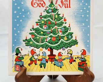 1960's God Jul Berggren Originals Christmas Tile