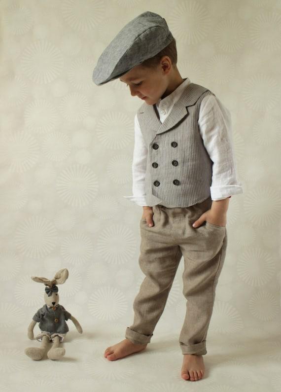 Boys vest Ring bearer vest Wedding party outfit Toddler boy