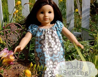 INSTANT DOWNLOAD- Janey Doll Dress PDF Sewing Pattern and Tutorial