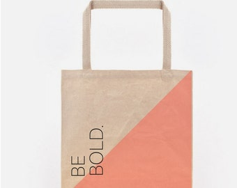 BE BOLD Tote/ Busy Lady Bag/ Trendy Tote/  Pastel/ Motivational Tote/ Mom Bag/ Large Tote/ Busy Mornings/ Anytime Bag