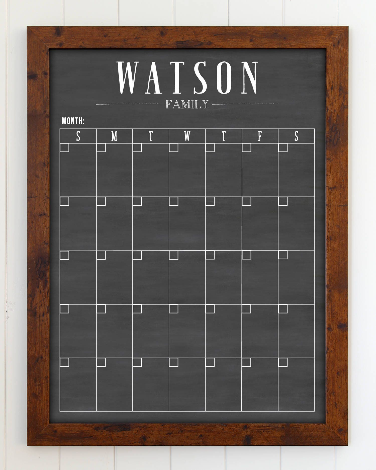 Familienkalender Tafel trocken abwischbaren Kalender