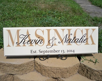 Last Name Sign, Family Name Sign, Name Sign, Family Sign, Personalized Signs, Personalized Family Name Signs, Custom Signs, Established Sign