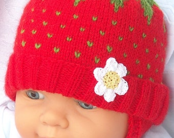 Baby Beanie / Hat small Strawberry