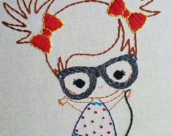 Boy and Girl with glasses Digital Embroidery Patterns