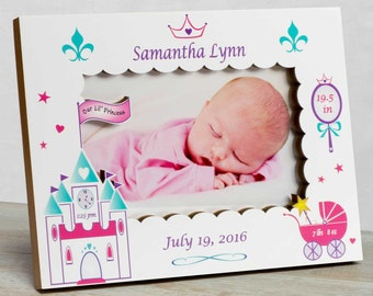 Personalized Baby Picture Frame, Baby Girl Picture Frame, New Baby Girl Frame, Baby Girl Frame, Picture Frame Baby Girl , Princess Frame