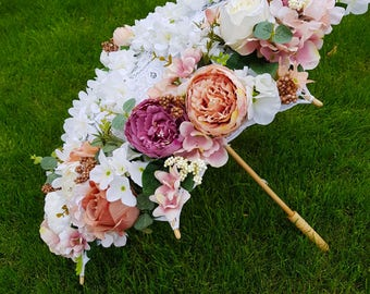 Floral Lace Umbrella Wedding Centrepiece Wedding Photography Garden Party Decor