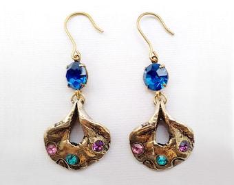 Teodora-Italian Vintage Jewelry, Swarovski Crystal, Capri Blue, assorted colours