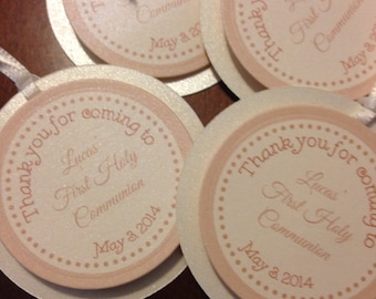 First Communion thank you tags (set of 10)