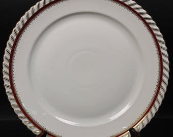 """German Round Chop Platter by Franconia/Krautheim in the """"Ruby"""" pattern.     12-1/2''  (CGP-1614)"""
