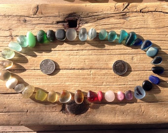 RARE SEAHAM RAINBOW | 36 Seaham Sea Glass Rarities | Scottish Beach Finds (8053)