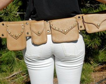 Festival Hip Bag, Belt Pouch, Leather Utility Belt, Festival Belt, Leather Hip Bag, Pocket Belt, Leather Holster Bag