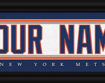New York Mets Jersey Stitch Personalized Print - FRAMED - MLB