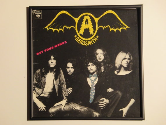 Glittered Record Album - Aerosmith - Get Your Wings