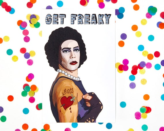 Valentines day card rocky horror picture show dr frank valentines day card rocky horror picture show dr frank n furter birthday card lgbtqi cult 100 recycled paper bookmarktalkfo Gallery