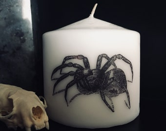 Spooky Spider Small Pillar Candle