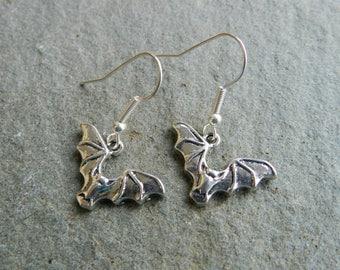 Novelty Earrings, Flying Bat Earrings, Bat Earrings, Vampire Bat Earrings