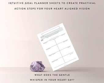 Vision Creator Kit / Goal Planner, Journal Template, Planner Sheet, Bullet Journal, Bullet Journal Sheet, Minimalist Planner, Goal Setting
