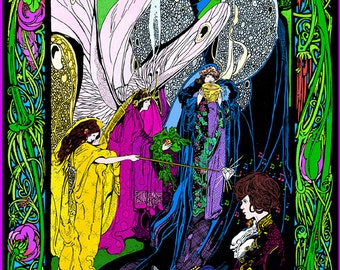 Syd Barrett Pink Floyd commemorative poster