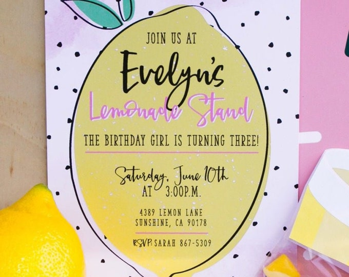 Printable Lemonade Birthday Invitation