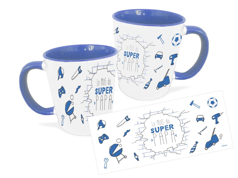 mug du super papa mug personnalis cadeau f te des p res. Black Bedroom Furniture Sets. Home Design Ideas
