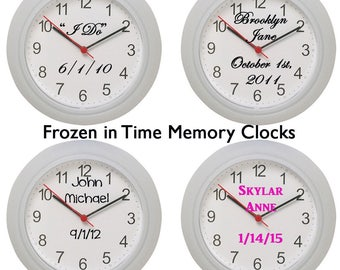 Frozen in time Memory Clocks, Perfect Mothers Day Gift, Custom Gift, Mom, Mothers, Mothers Day, New Mom Gift