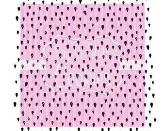 "Strawberry Seeds / Raindrops  5.5 x 5.5"" Stencil"