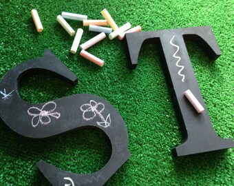 Freestanding Decorative Wooden Chalkboard Letters - 20cm