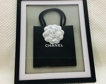 Chanel 3D Franed Camelia Mini Shopping Bag Wall Art