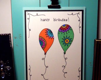 Birthday Card, Greeting Card, Handmade Card