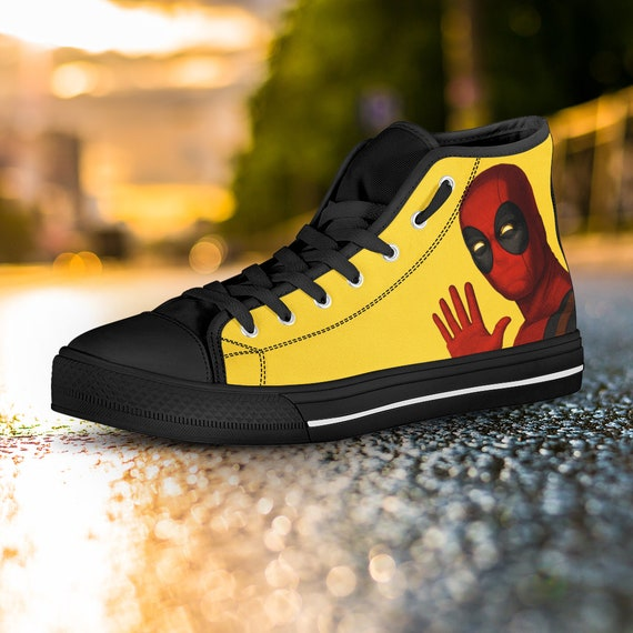 Captain Custom Deadpool America Custom Converse Top Deadpool Custom Gift High Shoes Shoes Shoes Wade Marvel Wilson Deadpool Converse K0qqwSHgO