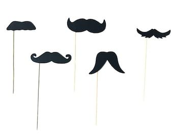 Premium Mustache Photo Booth Props