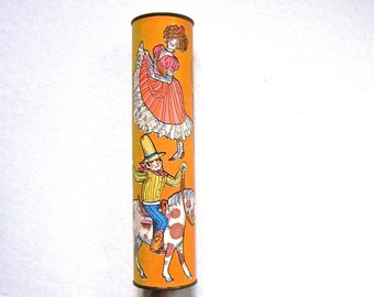 Vintage Optical Kaleidoscope, Nostalgic Children's Toy, 1950s Child's Kaleidoscope, Retro Toy, Glamping Decor