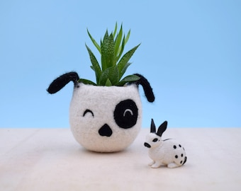 Dog lover gift, Planter, gardener gift for her, succulent planter, Small succulent pot, Cactus planter gifts, dog vase