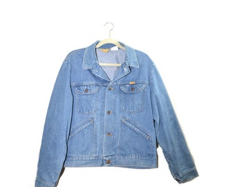 Vintage Denim Jacket Men's Denim Jacket Jean Jacket Size Large