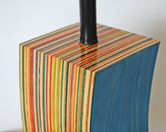 Lamp Made from Repurposed Skateboards