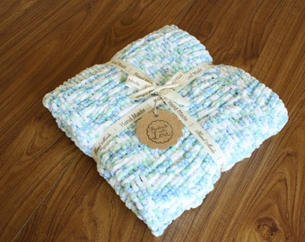 Blue, Green and White King Cole Yummy Waffle Blanket